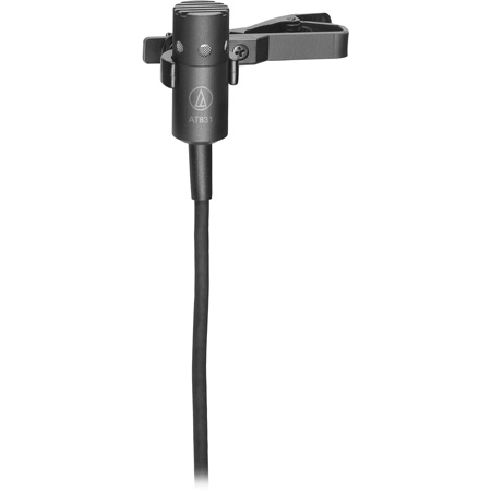 Audio-Technica AT831cT5 Cardioid Condenser Lavalier Mic for for Lectrosonics wireless systems