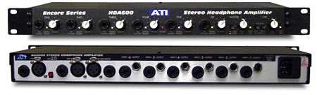 ATI HDA600 6-Ch Stereo Headphone Amplifier with Cue & Mic Inputs