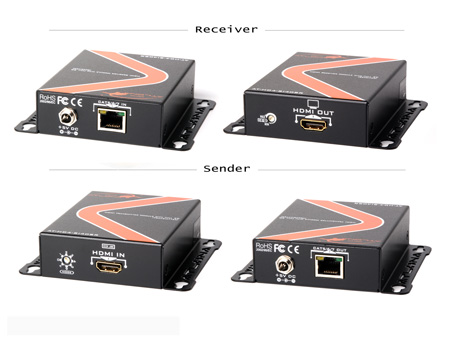 Atlona AT-HD4-SI40SR HDMI Extender Kit over single CAT5/6/7 with Full 3D Support