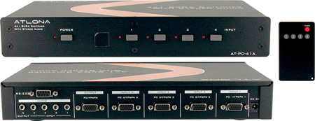 Atlona AT-PC41A 4:1 VGA plus Stereo Audio Switch