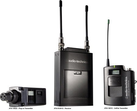 Audio-Technica ATW-1811D - 1800 Series Bodypack UHF Single Channel Camera Mount Wireless System