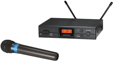 Audio-Technica ATW-2120A Wireless Handheld Microphone System - D Frequency Band