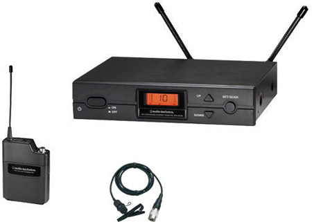 ATW-2129 2000 Series Frequency-agile True Diversity UHF Wireless Lavalier Microphone System