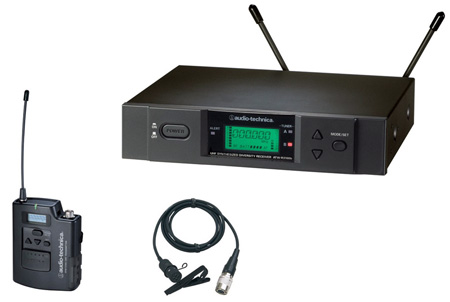 AudioTechnica 3000 Series Wireless Lavalier Mic System (D Band)