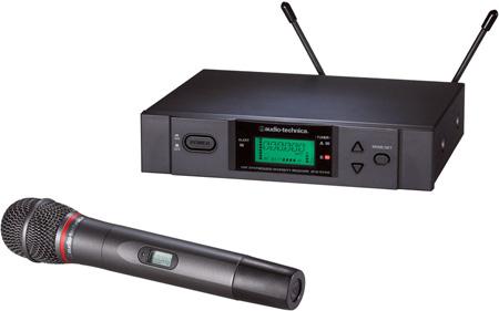 Audio-Technica ATW-3141b 3000 Series Handheld True Diversity UHF Wireless System - D Band 655.500 - 680.375 MHz