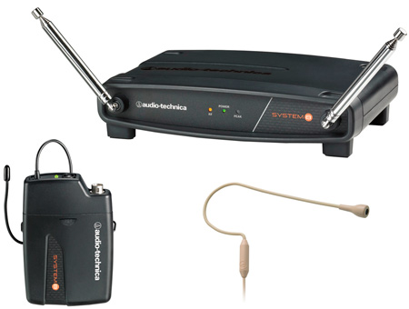 Audio-Technica ATW-801/H92 PRO 92cW Beige Headworn Mic Wireless System 170.245