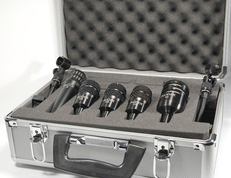 Audix 5-Piece Drum Mic Kit w/Case