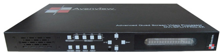 Avenview DVI-SPLITPRO-4X Multiviewer Quad Screen Video Processor with IR Remote