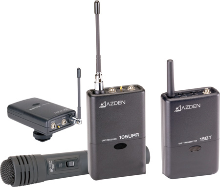 Azden 105ULH 92-Channel UHF Lavalier/Handheld Combo Wireless System