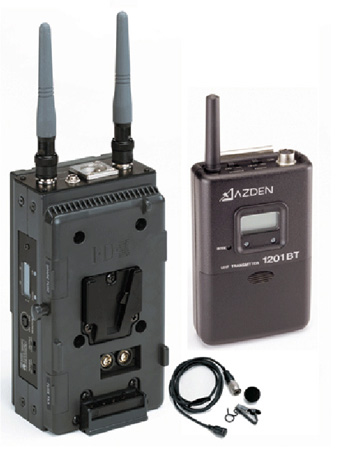 Azden 1201VMS UHF Body-Pack System with ECM-44H Mic