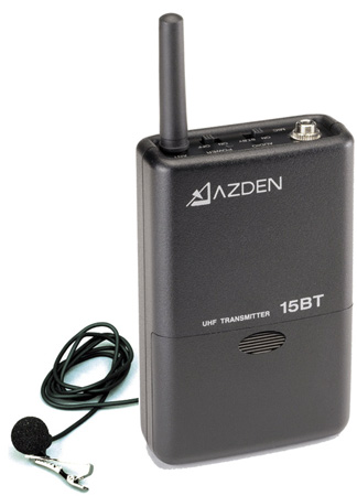 Azden 15BT UHF Body-Pack Transmitter with EX-503 Mic. for 105UPR