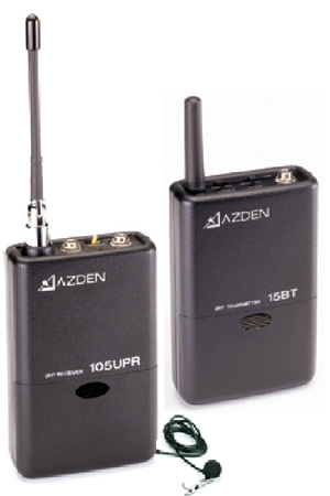 Azden 105 Series System with EX-503 Lavalier Mic