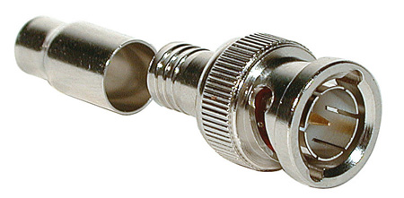 BNC 75Ohm Male 2-Piece Crimp Type Connector for RG59
