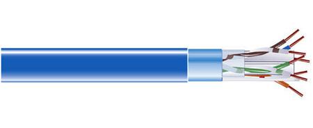 Black Box EVNSL0611A-1000 Cat6 Bulk Cable 400 Mhz Shld Plenum 1000 Ft. Blue