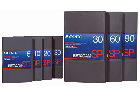 Sony Betacam SP Video Cassette 60 Minute
