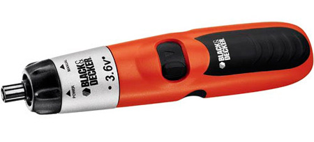 BLACK & DECKER 9074CTN 3.6 V Cordless Screwdriver w/Integrated Battery Charger