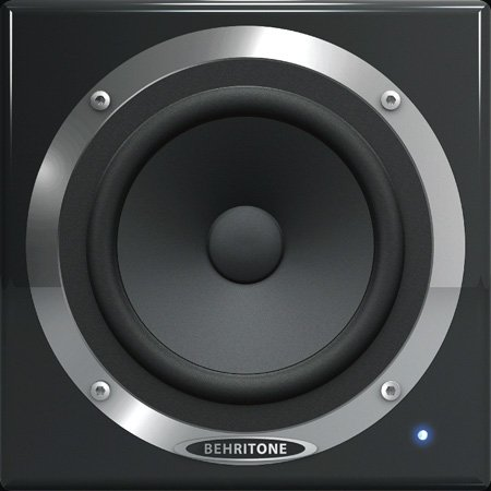 Behringer C50A Active 30-Watt Full-Range Reference Studio Monitor - 5 1/4in Speaker