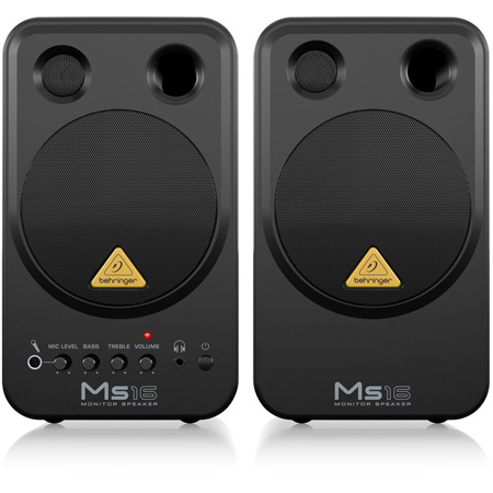 Behringer MS16 Multimedia Personal Monitors - Pair