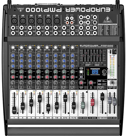 Behringer PMP1000 500W 12-Channel Powered Mixer w/Multi-FX Processor