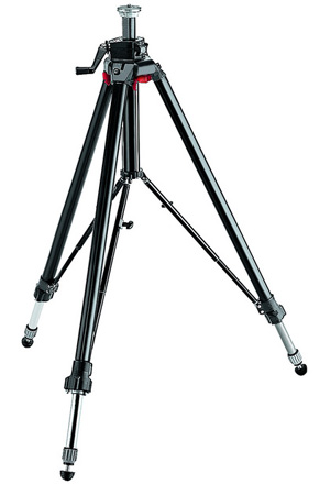 Manfrotto 058B Black Aluminum Studio Pro Triaut Tripod