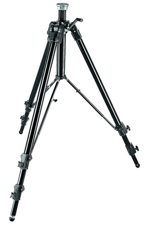 Manfrotto 161MK2B Black Aluminum Super Pro Tripod W/Geared Column(8.76 Ft. Tall)