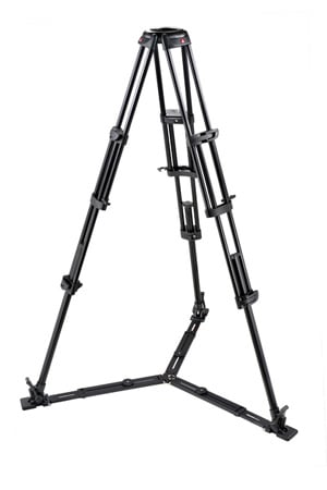 Manfrotto 545GB Pro Alu Video Tripod w/100mm/75mm Bowl Tandem Leg Gr.S