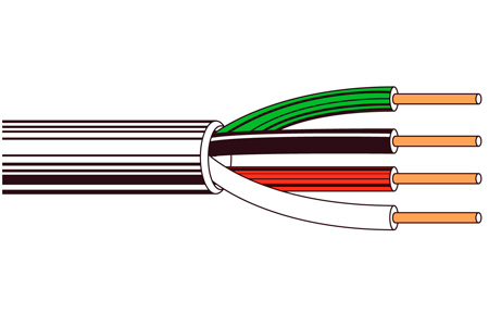 Belden 8444 Non-Paired - Four-Conductor 22 AWG Control Cable 500 Ft Chrome