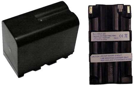 Large Capacity 7.2 Volt 7.2 Amp Hour Lithium Ion Camcorder Replacement Battery for Sony NP-F970