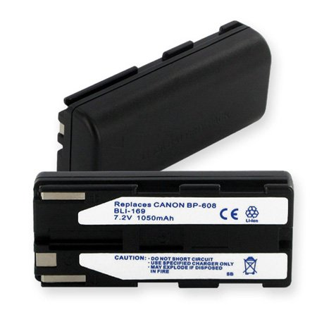 Lithium 7.2V 750MAh Battery For Canon BP-608 Elura and ZR