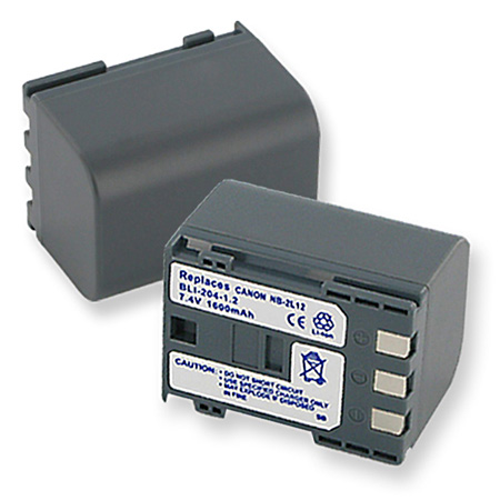 Lithium Ion Battery for Canon NB-2L 700 mAh and Canon HG-10