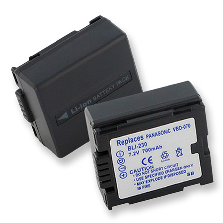 Battery for Hitachi DZ-BP07S Panasonic CGA-DU07