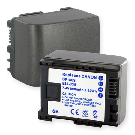 Canon BP-819 7.4V 1600 mAh LION Battery Replacement