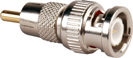 TecNec BM-P 50 Ohm BNC Male to RCA Male Video Adapter