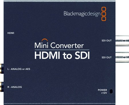Blackmagic CONVMBHS2 HDMI to Dual 3G HD-SDI with 2-CH AES/EBU or Analog Audio