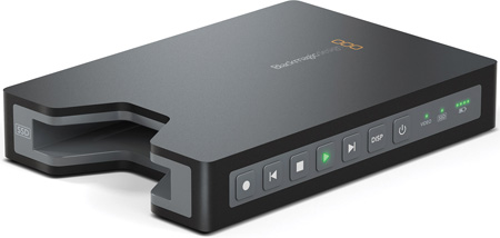 Blackmagic HyperDeck Shuttle 2 Avid DNxHD & QuickTime Disc Recorder with Li-Ion battery