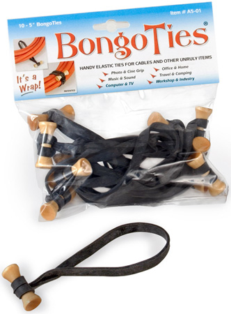 BongoTies Handy Elastic Tie-Wraps 10 Pack Natural