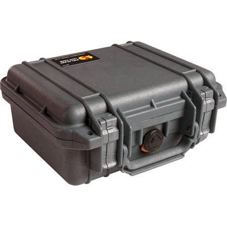 Pelican 1200 Mini S Case w/Foam 10.75inL x 9.75inW x 5inD Black