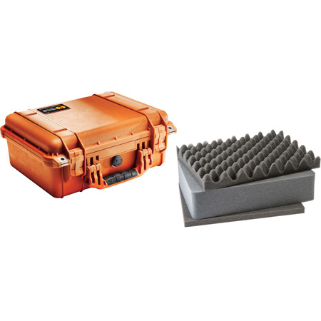 Pelican 1450 Case - Orange with Foam