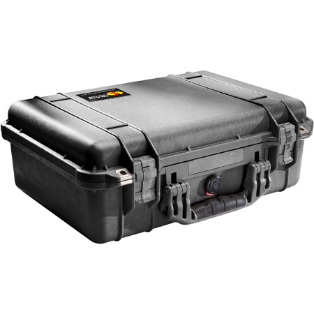 Pelican 1500 Case With Foam 18.50 Inches (L) x 14.06 Inches (W) x 6.93 Inches (D)- Black