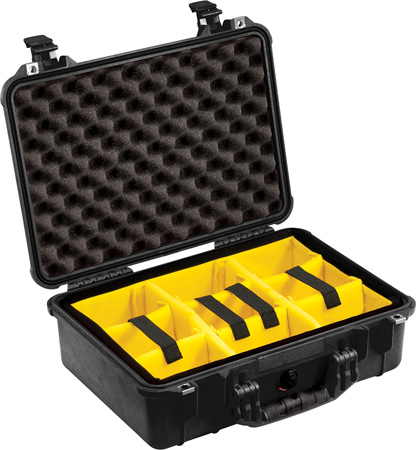 Pelican Case w/ Movable Dividers Silver