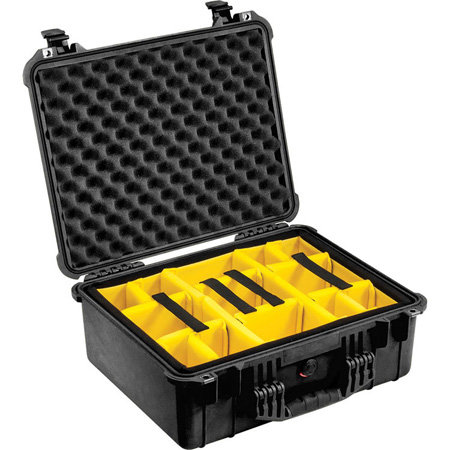 Pelican Case (1550) with Divider-Yellow
