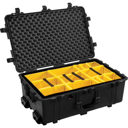 Pelican 1650 Case with Dividers- Black