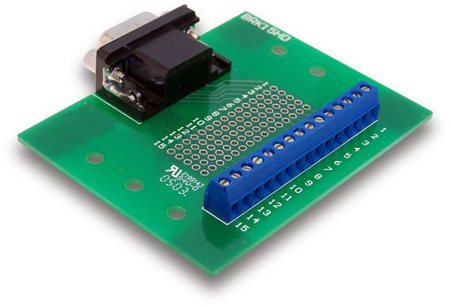 9pin Male DSUB to Screw Terminal Breakout Board
