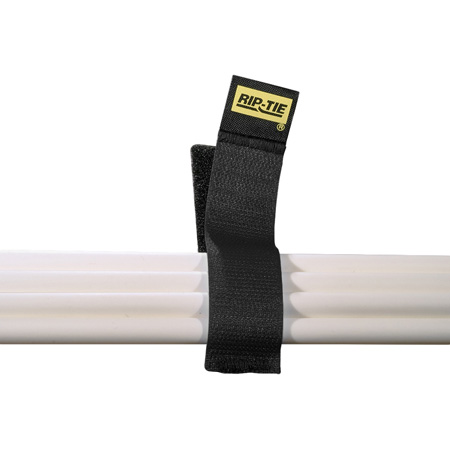 Rip-Tie CableCatch 1x8In. Black Surface Mount Hook & Loop Cable Wraps 5 Pk.