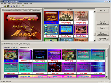 Cayman Graphics Message Channel Character Generator Software