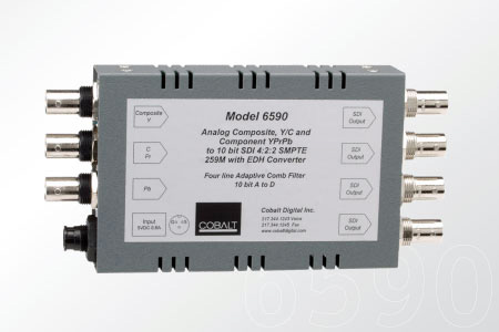 Cobalt 6590 A/D Analog Comp-Y/C-Component to 10-bit SDI - Includes PS12 Pwr Supply