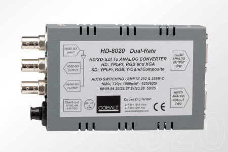 Cobalt 8020 HD/SD Dual-Rate Digital to Analog Dual Out with Pwr Supply