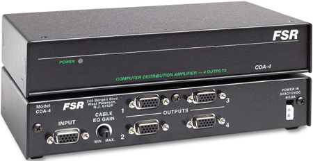 FSR CDA-4 1x4 Computer Video Distribution Amplifier
