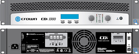 Crown CDI-1000 275wpc x 2 @8ohm 2RU Power Amplifier