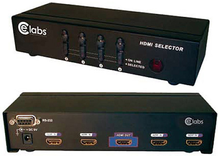 Cable Electronics HM41SR 4x1 HDMI Switcher with Remote